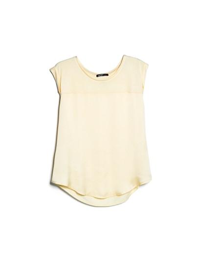 satin panel lightweight t-shirt