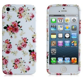Wisedeal Colorful Rose Protective SLIM Skin Back TPU rubber Case Cover for iPhone 5 with a Wisedeal Keychain Gift on Wanelo