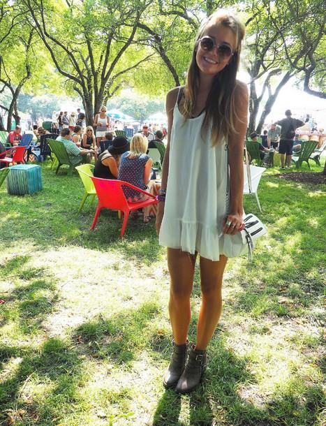 dress white dress boho dress flowy short dress white pretty short summer coachella