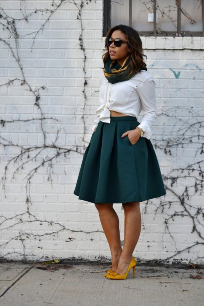 skirt high waist skirt green skirt