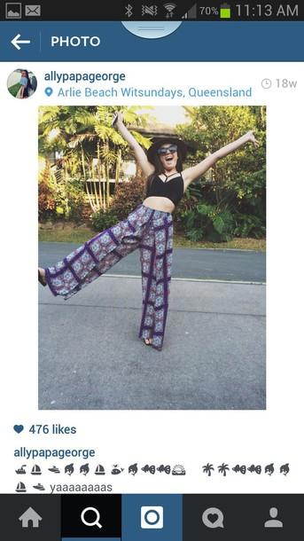 pants tribal pattern hippie boho shirt