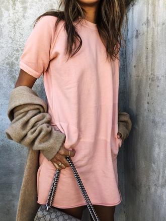 dress tumblr pink dress mini dress shirt dress cardigan grey cardigan