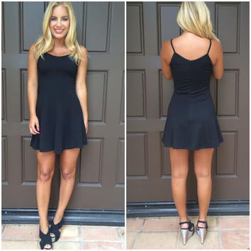 High Tide Skater Dress - Black on Wanelo