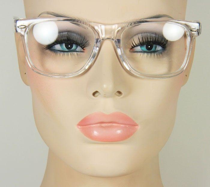 New Large Men's or Women's Clear Square Rectangular Frame Glasses Eyeglasses | eBay