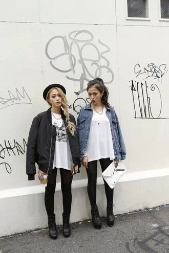 jacket shirt shoes bag tags topshop black denim bomber jacket coat tumblr girl hat fashion grunge soft grunge black jacket denim jacket