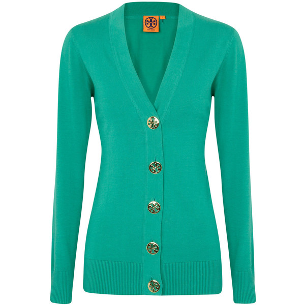 Tory Burch Simone Fine Knit Cotton Cardigan - Polyvore