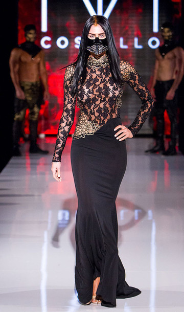 dress Michael Costello gown