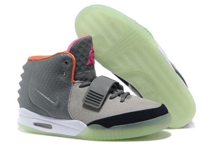 Air Yeezy 2 Grey Pink Orange Nike Men's Size Shoes