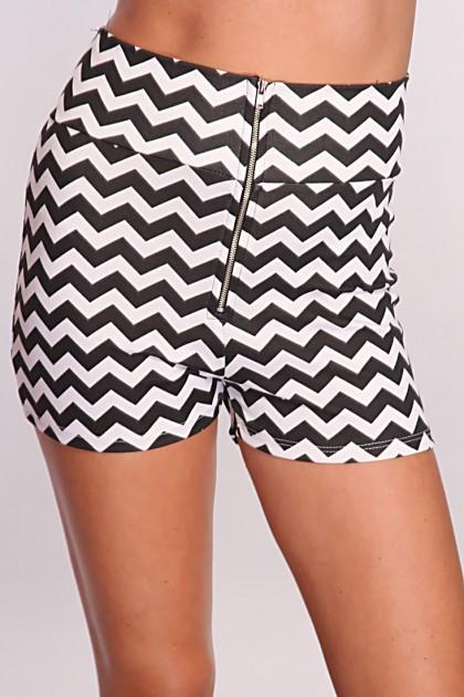 Black White Chevron Print High Waist Shorts @ Amiclubwear Shorts,Women's Shorts,Short Shorts,Drawstring Shorts,Ladies Shorts,Summer Shorts,Petite Shorts,Shorts Clothing,Women's Denim Shorts,Black Shorts,Pants Shorts,Sport Shorts,Womans Shorts,Fashion shor