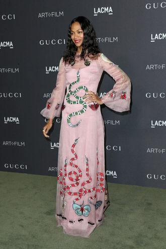 dress long dress zoe saldana