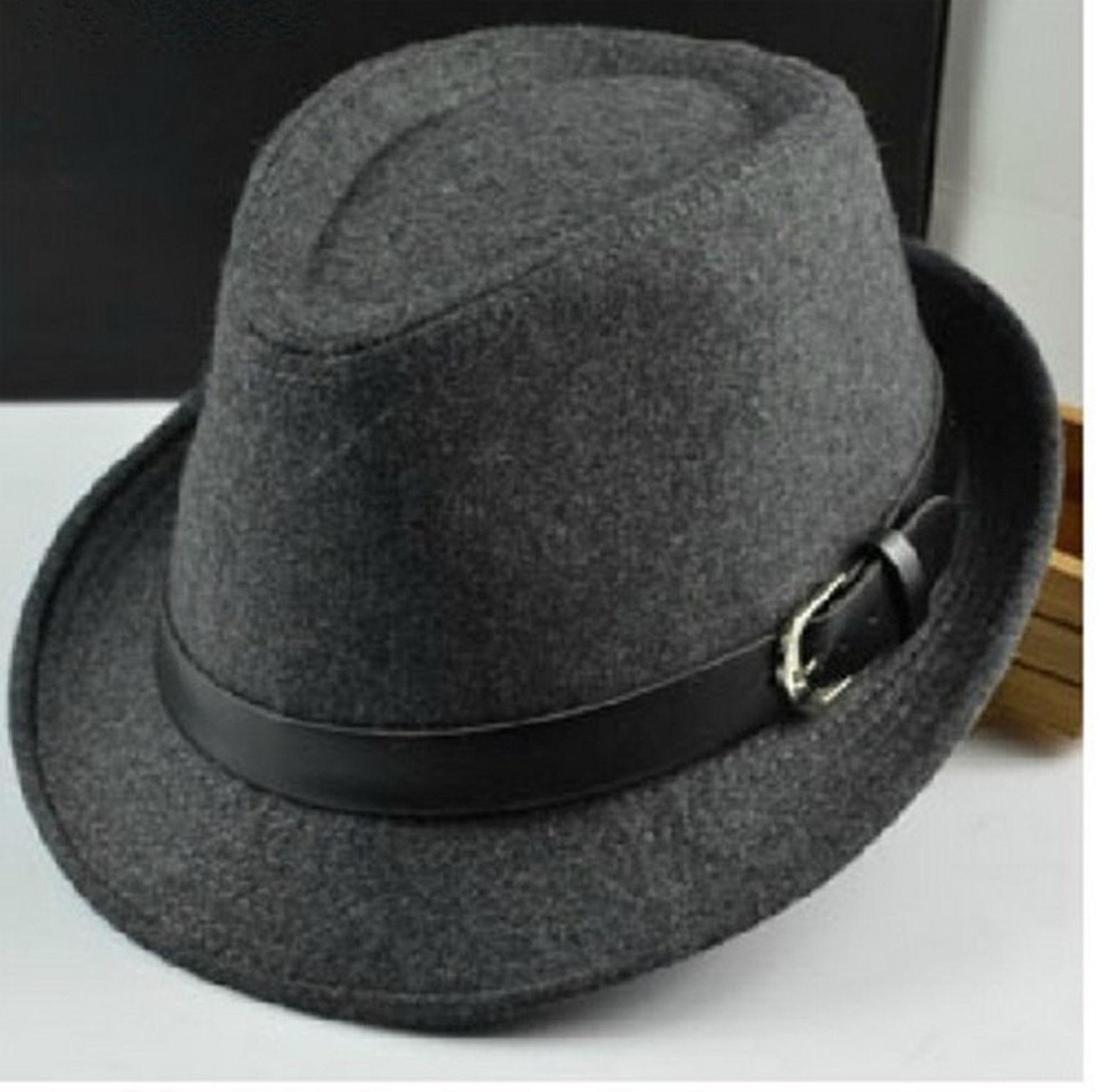 New Unisex Fedora Panama Trilby Jazz Wool Irregular Hat Homburg Cap | eBay