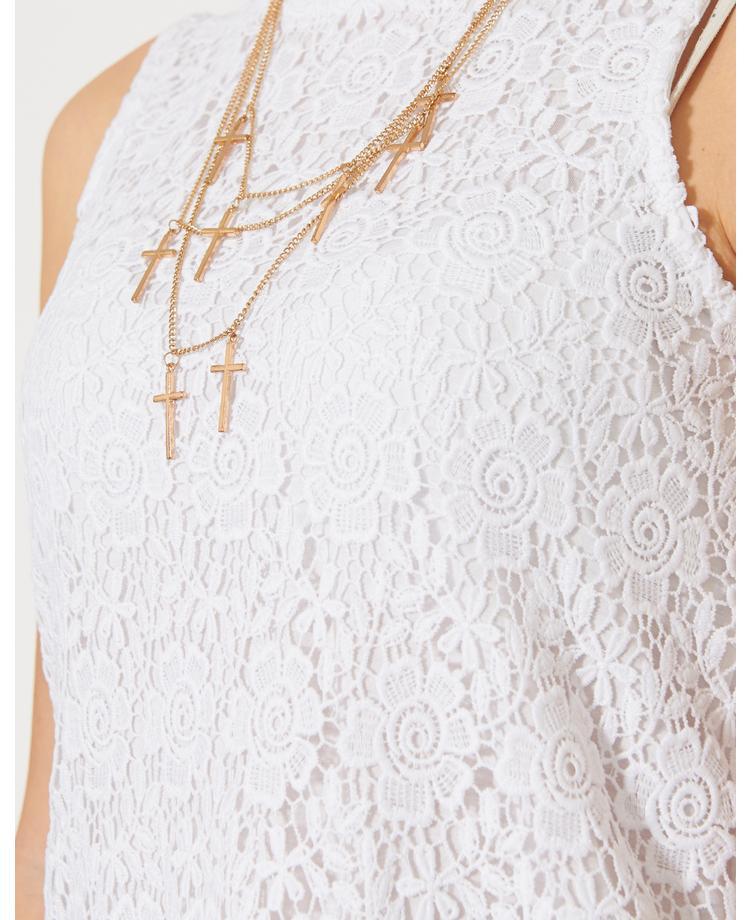 Ribbon Crochet Lace Dress | BANK Fashion