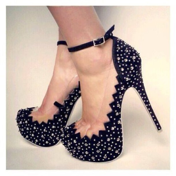 shoes ankel strap heels heels black heels